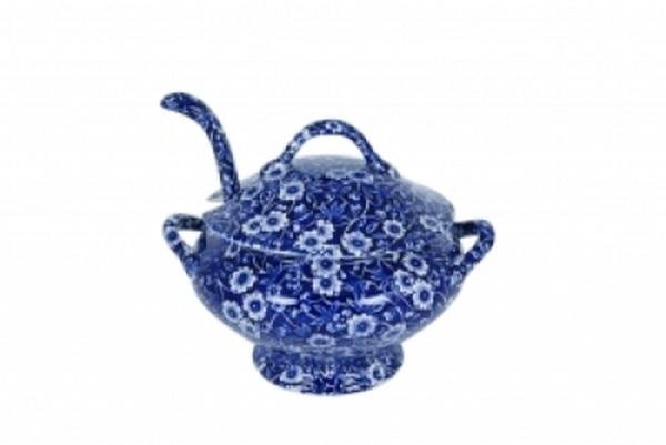 Burleigh Blue Calico Tureen Pottery & China Pottery & Glass